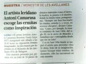 Nota premsa Ermites Camarasa a la Mañana_071014